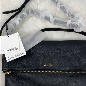 Leather Calvin Klein Messenger Bag